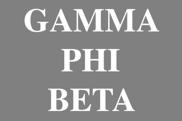 Gamma Phi Beta Sorority Junior Spaghetti Tanks