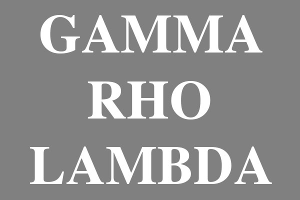 Gamma Rho Lambda Sorority Gifts