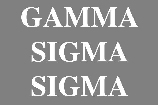 Gamma Sigma Sigma Sorority Plus Size Scoop Neck Tees