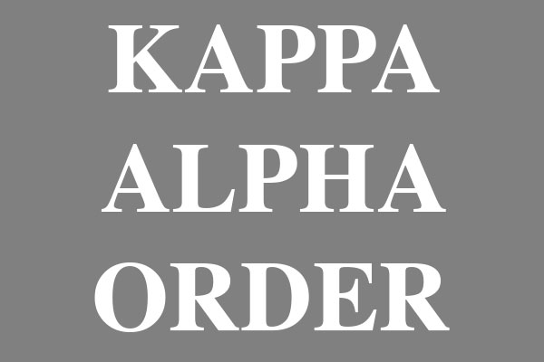Kappa Alpha Order Fraternity Men's Clothing