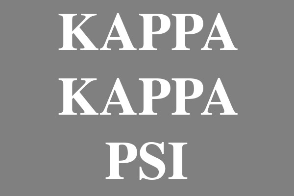 Kappa Kappa Psi Fraternity Earrings