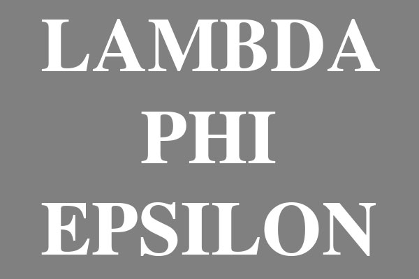 Lambda Phi Epsilon Fraternity Square Stickers