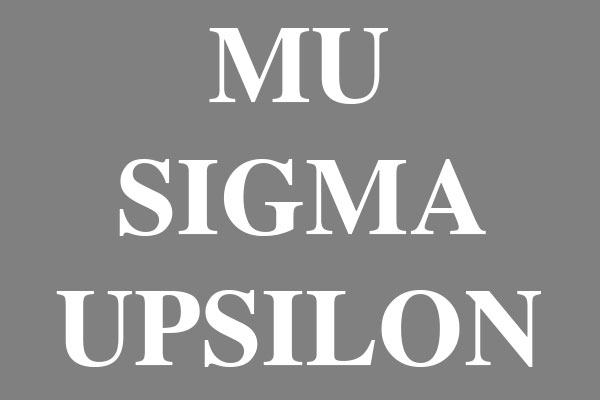 Mu Sigma Upsilon Sorority T-Shirts