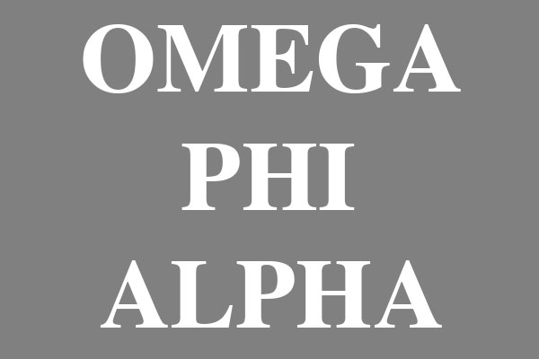 Omega Phi Alpha Sorority Men's Clothing