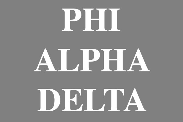 Phi Alpha Delta Fraternity Men's Zip Up Hoodies