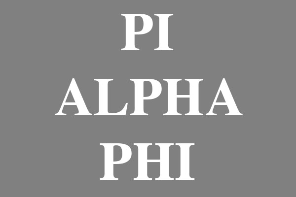 Pi Alpha Phi Fraternity Women's Underwear & Panties