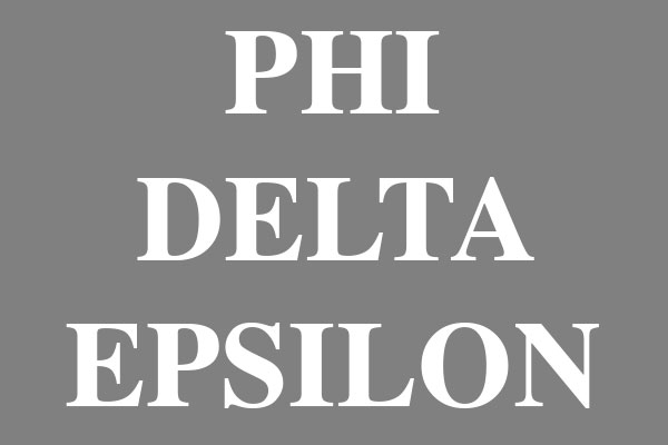 Phi Delta Epsilon Fraternity Ceramic Round Ornaments