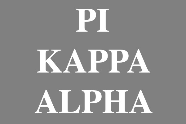 Pi Kappa Alpha Fraternity Ornaments