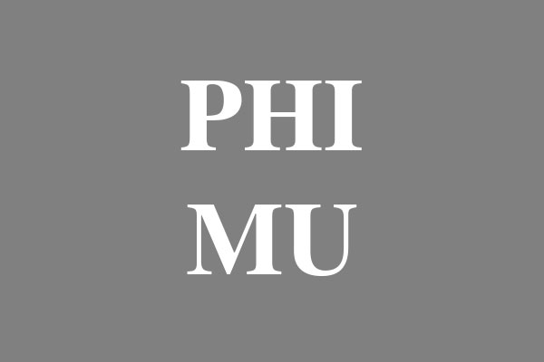 Phi Mu Sorority Men's Zip Up Hoodies