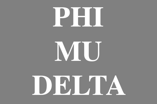 Phi Mu Delta Fraternity Men's Zip Up Hoodies