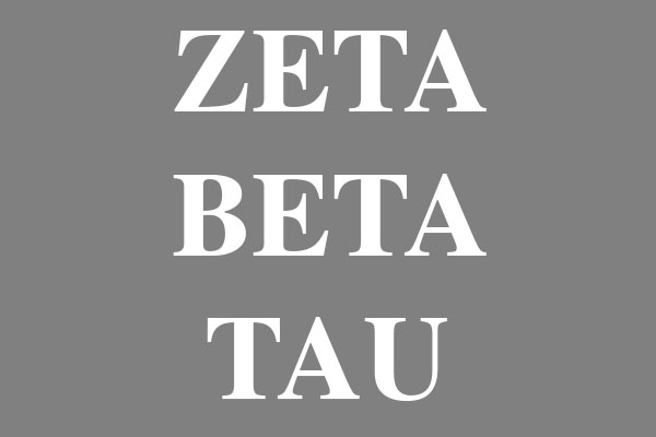 Zeta Beta Tau Fraternity Men's Long Sleeve T-Shirts