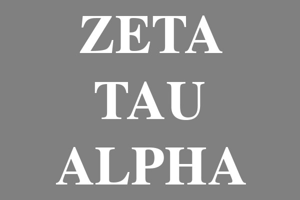 Zeta Tau Alpha  Sorority Women's Baseball Tees