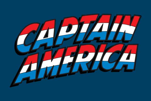 Marvel's Captain America  Men's Football Tees