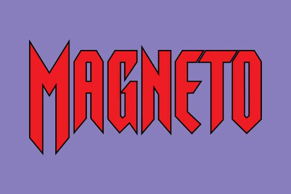 Marvel's Magneto Oval Car Magnets