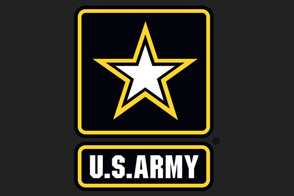 U.S. Army Burlap Throw Pillows