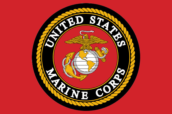 U.S. Marines Aluminum License Plates