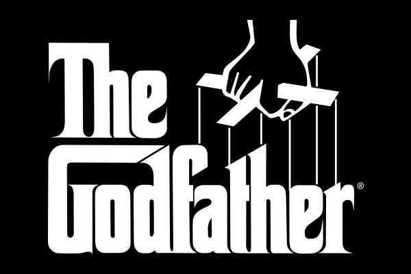 The Godfather Movie Silver Square Necklaces
