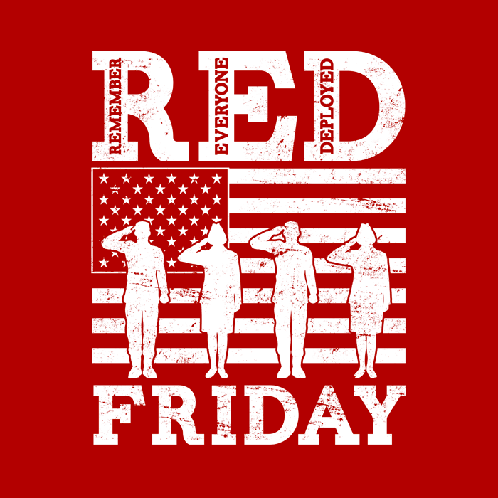 RED Friday - Remember Everyone Deployed T-Shirt Design