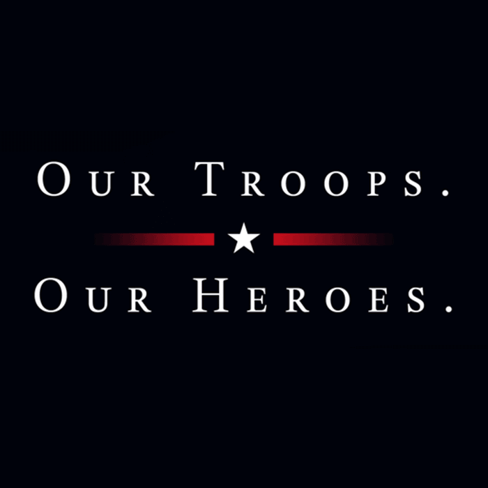 Out Troops - Our Heroes T-Shirt Design