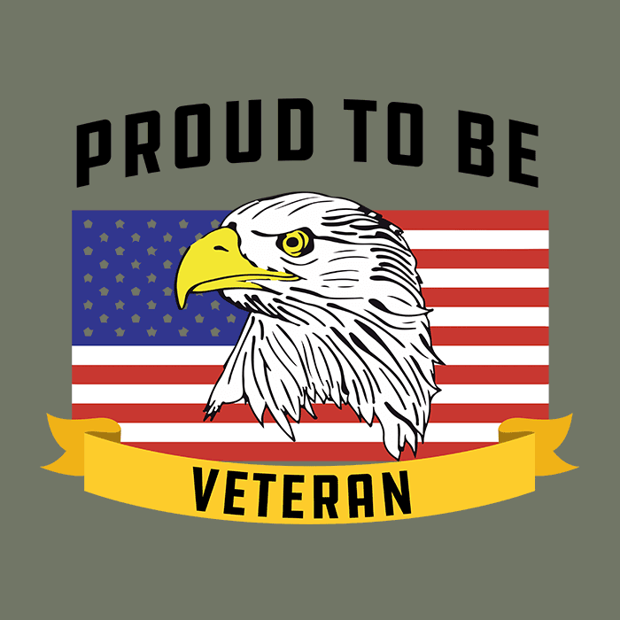 Proud to be an American Veteran T-Shirt design