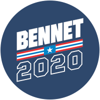 Michael Bennet for president 2020 Presidential Candidate Campaign Merchandise Design