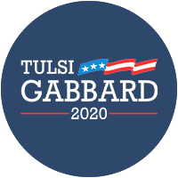 Tulsi Gabbard for president 2020 Presidential Candidate Campaign Merchandise Design