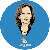 Kamala Harris for president 2020 Presidential Candidate Campaign Merchandise Design