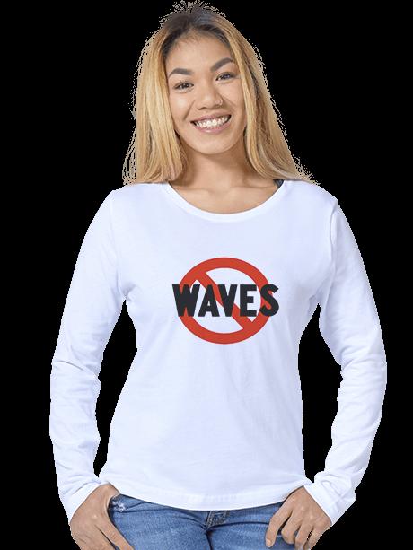 Woman wearing a Women's Long Sleeve T-Shirt