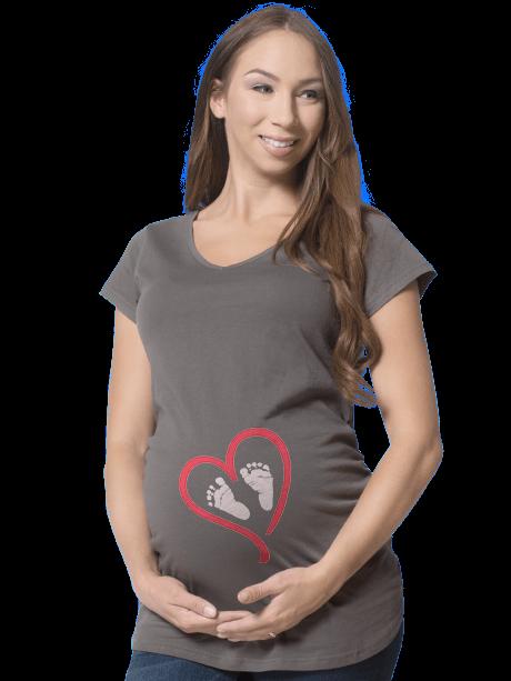 Woman wearing a Maternity T-Shirt