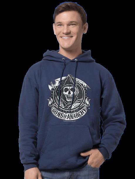 Man wearing a Men's Hooded Sweatshirt