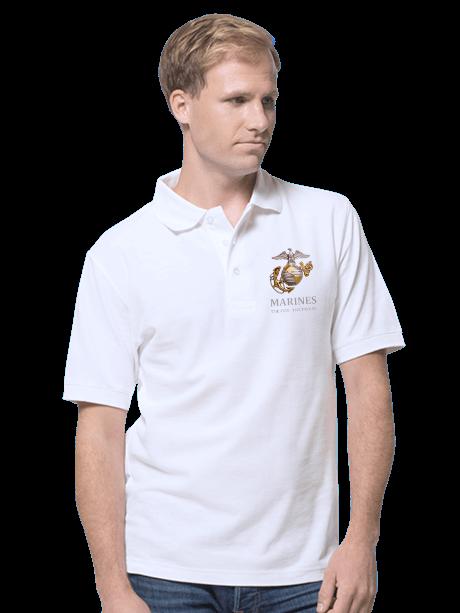 Man wearing a Men's Polo Shirt