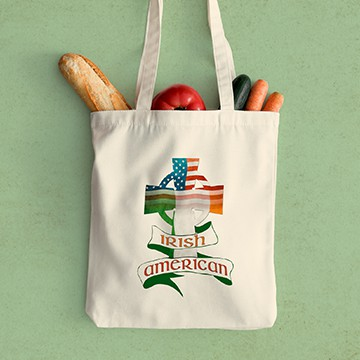 CafePress tote bag with an Irish Heritage design.
